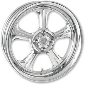 Performance Machine Chrome 21 x 3.5 Wrath One-Piece Wheel for Models w/o ABS - 1202-7106R-WRA