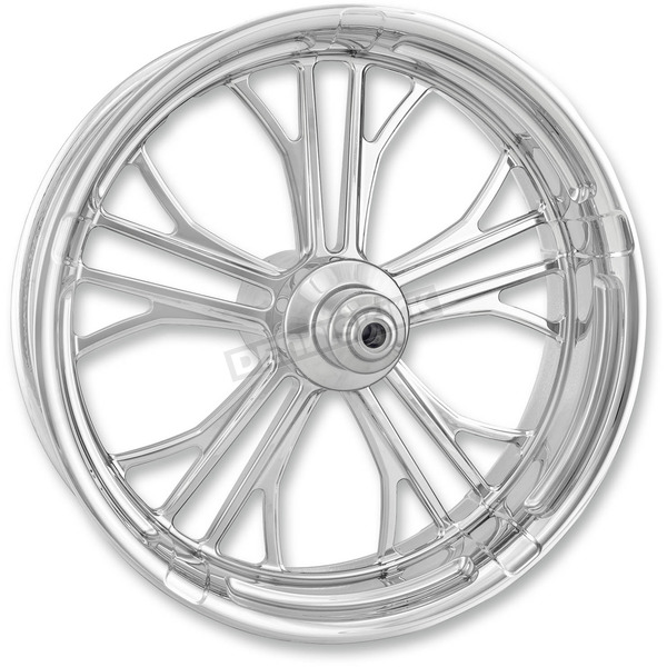 Performance Machine Chrome 21 in. x 3.5 in. Dixon Front Wheel for Models w/ ABS (dual disc) - 12047106RDIXAJC