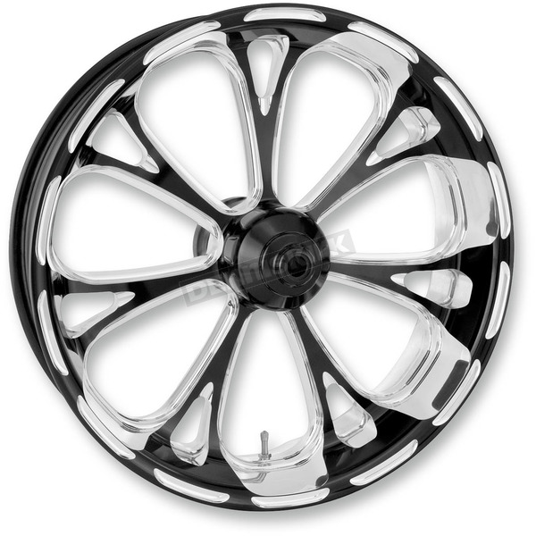 Performance Machine Front Platinum Cut 21 x 3.5 Virtue One-Piece Chrome-Forged Aluminum Wheel - 12047106VIRJBMP