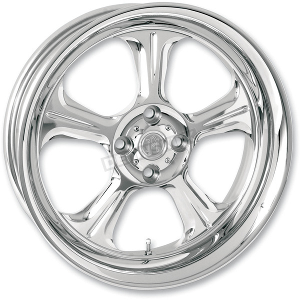 Performance Machine Front Chrome 21 x 3.5 Wrath One-Piece Chrome-Forged Aluminum Wheel - 12027106WRAJCH