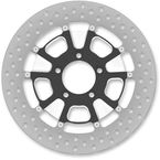 13 in. Front Contrast Cut Ops Raider Two-Piece Brake Rotor - 01333015RRDLSBM