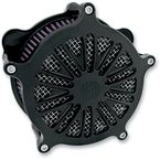 Black Ops Cut Boss Venturi Air Cleaner - 0206-2044-SMB