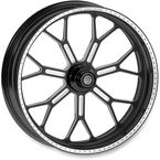 23 in. x 3.5 in. Front Contrast Cut Ops Delmar One-Piece Aluminum Wheel for Models w/o ABS (dual disc) - 12027306RDELSBM