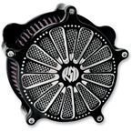 Contrast Cut Domino Venturi Air Cleaner - 0206-2028-BM