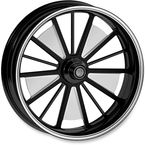18 in. x 5.5 in. Rear Contrast Cut Ops Raider One-Piece Aluminum Wheel - 12597814RRRDSBM