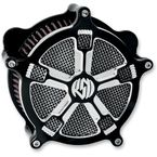 Contrast Cut Venturi Turbo Air Cleaner - 0206-2033-BM