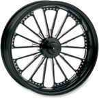 17 in. x 6 in. Domino One-Piece Contrast Cut Aluminum Wheel for Models w/ ABS - 12707716RDOMBM