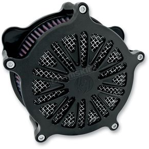 Roland Sands Design Black Ops Cut Boss Venturi Air Cleaner - 0206-2043-SMB