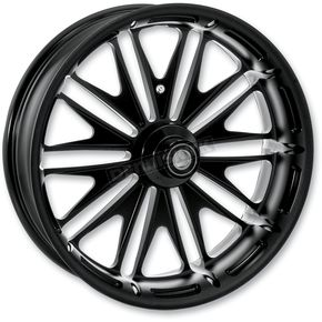 Roland Sands Design 18 in. x 5.5 in. Boss One-Piece Black Ops Aluminum Wheel - 12697814RMSSSMB