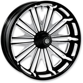 Roland Sands Design 21 in. x 3.5 in. Boss One-Piece Contrast Cut Aluminum Wheel - 12047106RMSSBM