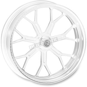 Roland Sands Design 23 in. x 3.5 in. Front Chrome Delmar One-Piece Aluminum Wheel for Models w/o ABS (dual disc) - 12027306RDELCH