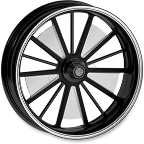 Roland Sands Design 21 in. x 3.5 in. Front Contrast Cut Ops Raider One-Piece Aluminum Wheel for Models w/ ABS - 12047106RRDSBM