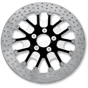 Roland Sands Design Front 13 in. Slam Two-Piece Contrast-Cut Brake Rotor - 01333015SLMLSBM