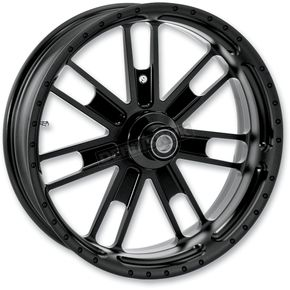 Roland Sands Design 16 in. x 5 in. Slam One-Piece Black Ops Aluminum Wheel for Models w/ABS - 12697612RSLMSMB