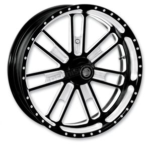 Roland Sands Design 16 in. x 5 in. Slam One-Piece Contrast-Cut Aluminum Wheel for Models w/ABS - 12697612RSLMBM
