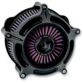 Roland Sands Design Black Ops ™ Turbine Air Cleaner - 0206-2040-SMB