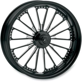 Roland Sands Design 23 in. x 3.5 in. Domino One-Piece Contrast Cut Aluminum Wheel for Models w/o ABS - 12027306RDOMBM
