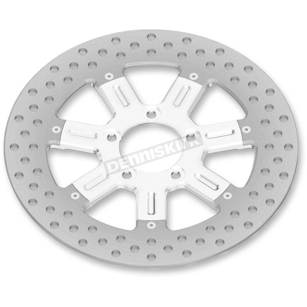Roland Sands Design 13 in. Front Chrome Delmar Two-Piece Brake Rotor - 01333015DELLS