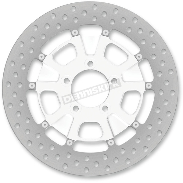 Roland Sands Design 11.5 in. Front Chrome Raider Two-Piece Brake Rotor - 01333015RRDLS