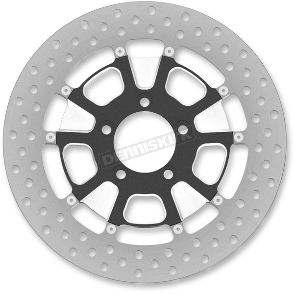 Roland Sands Design 13 in. Front Contrast Cut Ops Raider Two-Piece Brake Rotor - 01333015RRDLSBM