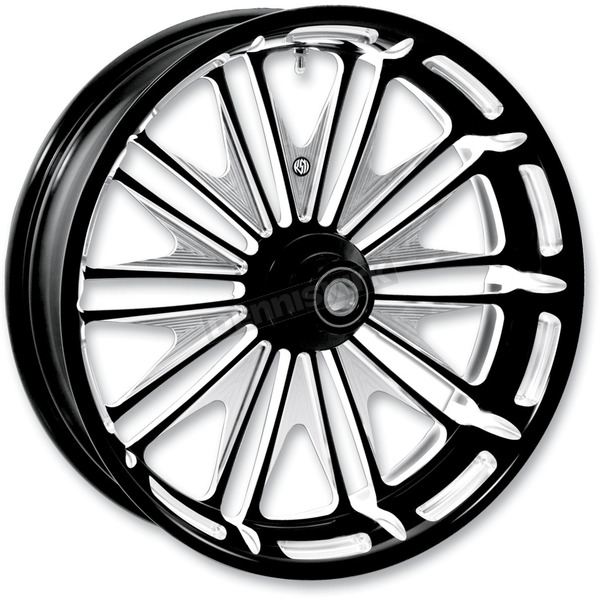 Roland Sands Design 21 in. x 3.5 in. Boss One-Piece Contrast-Cut Aluminum Wheel for Models w/o ABS - 12027106BSSJBM