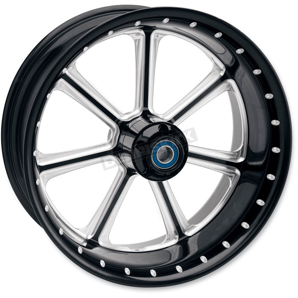 Roland Sands Design 23 in. x 3.5 in. Diesel One-Piece Contrast Cut Aluminum Wheel for Models w/o ABS - 12027306RDIEBM