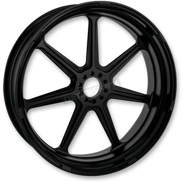 Roland Sands Design 21 in. x 3.5 in. Morris One-Piece Black Ops Aluminum Wheel for Models w/o ABS - 12027106MRSJSMB