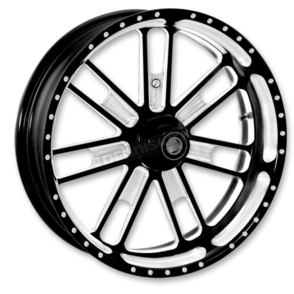 Roland Sands Design 19 in. x 2.15 in. Slam One-Piece Contrast-Cut Aluminum Wheel  - 12107903RSLMBM