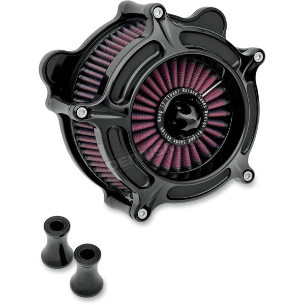 Roland Sands Design Black Turbine Air Cleaner - 0206-2038-B