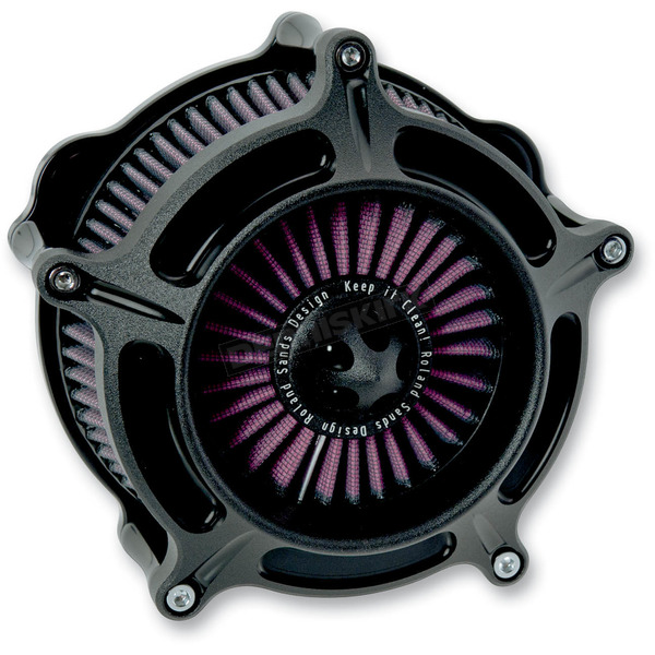 Roland Sands Design Black Ops™ Turbine Air Cleaner - 0206-2038-SMB