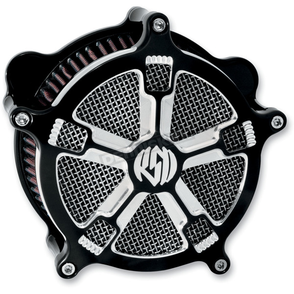 Roland Sands Design Contrast Cut Venturi Turbo Air Cleaner - 0206-2033-BM