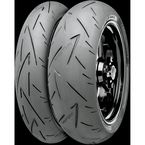 Front Conti Sport Attack 2 110/70ZR-17 Blackwall Tire - 02440050000