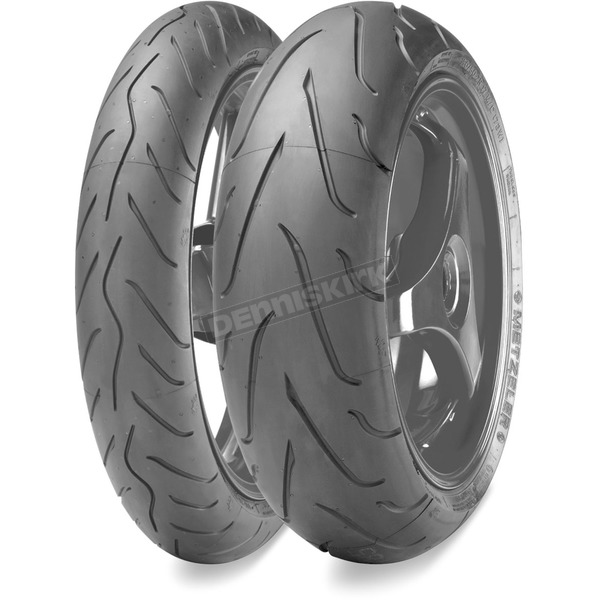 Metzeler Rear Sportec M3 190/55ZR-17 Blackwall Tire - 1859300