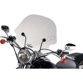 Slip Streamer SS-10 Viper Smoke Windshield with 1 in. Hardware - SS-10-T-1