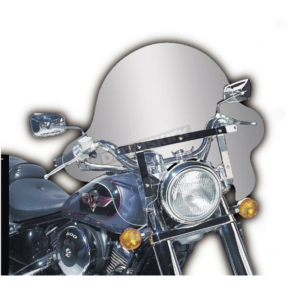 Slip Streamer 16 in. SS-32 Falcon Clear Windshield for Oversized Forks - SS-32-16CV