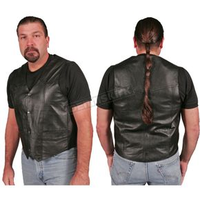 Hot Leathers Classic Medium-Weight Leather Vest - VSM1005-60