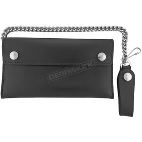 Hot Leathers Plain Billfold with Chain - WLC2001