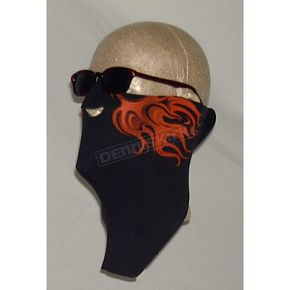 Wicked Wear Neoprene Orange Flames Cool Weather Half Face Mask - 2508