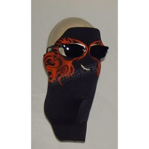Wicked Wear Orange Flames Cool Weather Mask - 4008