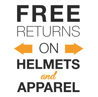 Free Returns Helmets and Apparel